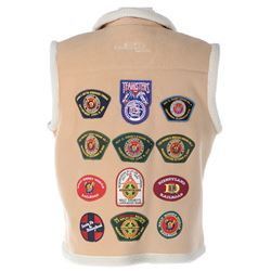 WED Imagineering vest with historic (12) Disney Railroad patches.