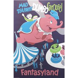 Disneyland Fantasyland Dumbo the Flying Elephant attraction poster.