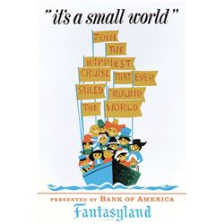 Disneyland It's a Small World park attraction poster.