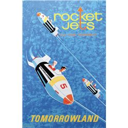 Disneyland Rocket Jets park attraction poster.