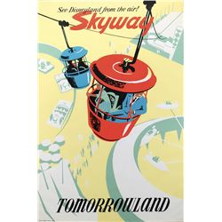 Disneyland Skyway park attraction poster.