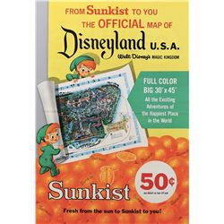 Sunkist Disneyland map in-store promotional kit and poster.