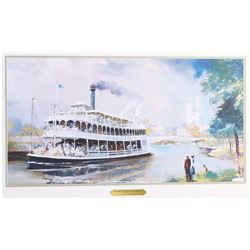 Herb Ryman print of Richard Irvine Riverboat concept art that hung at the Disneyland Hotel.