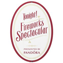 "Disney World Fireworks Spectacular ""Pandora"" sign."