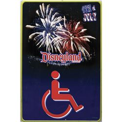 "Disneyland ""4th of July"" and ""Halloween"" signs."