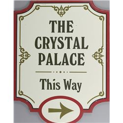 "Disney World ""The Crystal Palace"" and ""Casey's Corner"" signs."