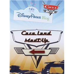 "Disney World ""Cars Land Meet Up"" sign."