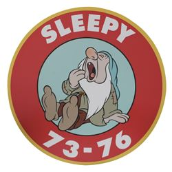 "Disney World ""Sleepy"" 73-76 Parking Sign."