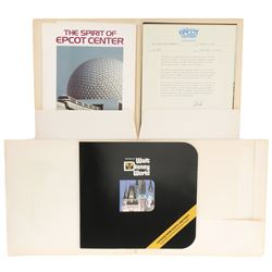 Epcot & Disney World presentation folders.