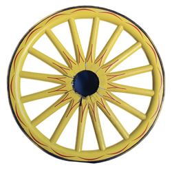 Frontierland Rainbow Mountain Stagecoach Attraction Spoked Wagon Wheel prop.