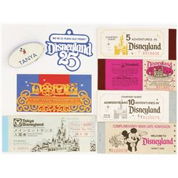 Disney parks vintage ticket booklets, pass and ephemera.