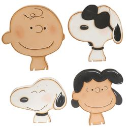 "Knotts Berry Farm ""Charlie Brown"", ""Lucy"", ""Snoopy"" and ""Joe Cool"" head props for Camp Snoopy."
