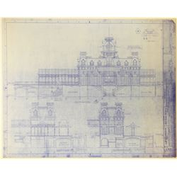 Disney World Main Street Railroad Station architectural blueprints.
