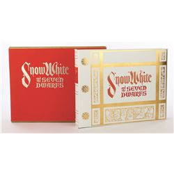 Snow White and the Seven Dwarfs deluxe edition leatherette bound book in slip case.