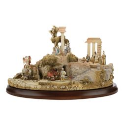 "Goebel ""The Nativity"" collection of (10) miniature figurines and (4) display pieces."