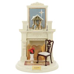 "Goebel Fireplace Mantel Series ""The Nativity"" set of (3) figurines with fireplace display."