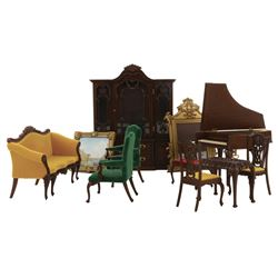 Goebel Chippendale Doll House Furniture Collection (11) pieces.