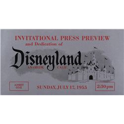 Disneyland July 17, 1955 silver Opening Day ticket.