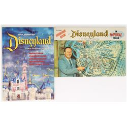 Disneyland 1955 park guide and color souvenir book.
