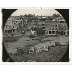Disneyland under construction (4) photographs.