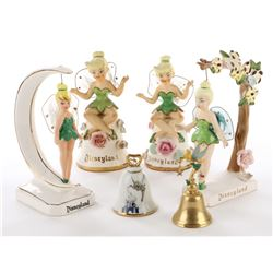 Tinker Bell (6) metal and ceramic figurines.