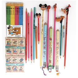 Disneyland (27) pencils and (12) erasers.