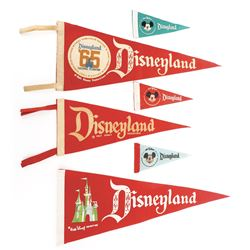 Disneyland (3) pennants and (3) mini-pennants.
