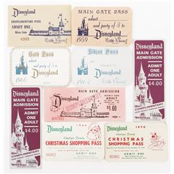 Disneyland (9) Main Gate admission passes and tickets.