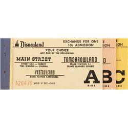 Disneyland 1955 ticket book.