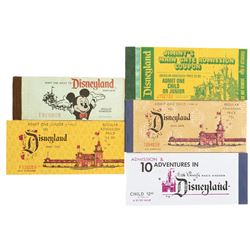 Disneyland (5) vintage complete ticket books.