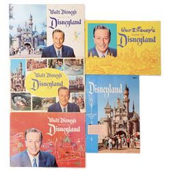 Disneyland (5) park guide books 1950s-1960s.