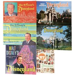 Disneyland (5) park guide books 1960s-1970s and (1) pictorial souvenir book.