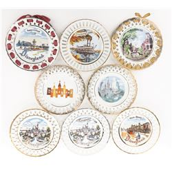 Disneyland (8) decorative hanging plates, including 5-by Eleanore Welborn Art Productions.