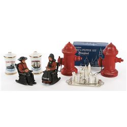Disneyland (4) sets of salt and pepper shakers.