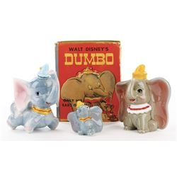 Dumbo (3) figurines and a Big Little Book.