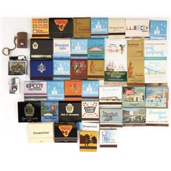 Disney theme parks (35+) matchbooks and (3) lighters.