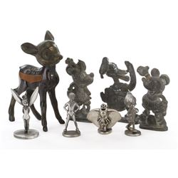 Disneyland (8) lead, pewter and metal figurines.