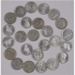 Roll of 20 Canada Silver Dollars Mixed Years