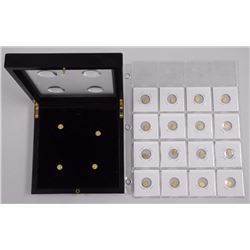 20x Mini Gold Plated Coins with Special Collector