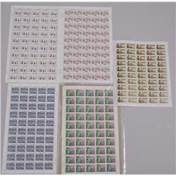 Lot of Approximately 250 Uncut Stamps from Sheets