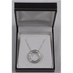 Ladies 9.25 Silver Pendant & Chain, Circle of Life