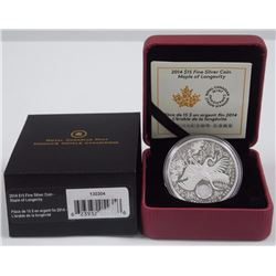 RCM Maple of Longevity Coin, .9999 Fine Silver - $