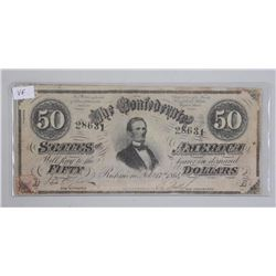 The Confederate States, 50 Dollars. February 1864.