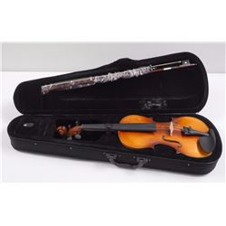 'Violin' Hand Polish Wood with Bow and Case (SIE)