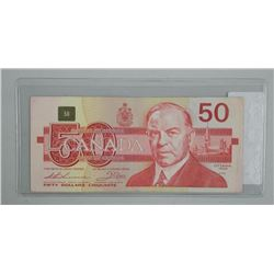 Bank of Canada 1989 $50 (F) Replacement.