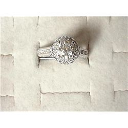 One Lady's (Stamped) White Gold Diamond Custom Mad