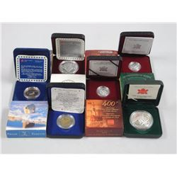 6x Proof Coins - 1996 Toonie, 2004 Silver Dollar,