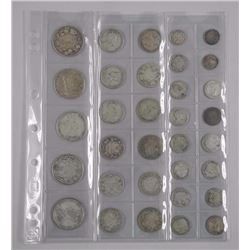 33x Silver 10 Cent, 25 Cent, 50 Cent Coins, Mostly