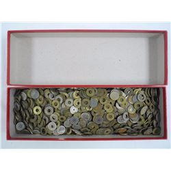 Red Box Lot Amusement Token Collection, Over 30 Ye