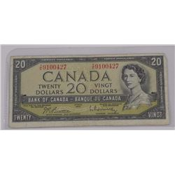 1954 Bank of Canada $20.00 MP
